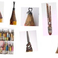 แกะสลักหัวดินสอไม้ เป็นรูปสวยๆ แปลกตา