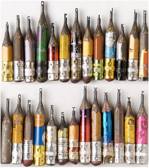 รูป 3 แกะสลักหัวดินสอไม้ เป็นรูปสวยๆ แปลกตา