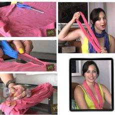 สอนทำสร้อยคอ จากเสื้อยืด