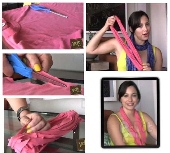 รูป 1 สอนทำสร้อยคอ จากเสื้อยืด