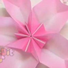 สอนพับจานใส่ขนม รูปดอกไม้สวยๆ