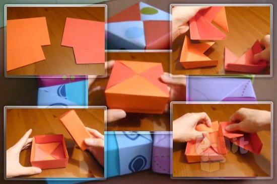 รูป 1 สอนพับกล่องใส่ของขวัญสวยๆ
