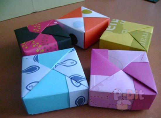 รูป 2 สอนพับกล่องใส่ของขวัญสวยๆ