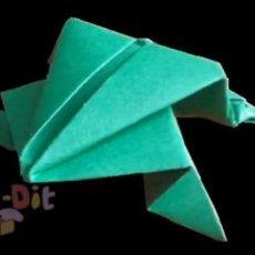 สอนพับกบกระโดดได้ จากกระดาษ