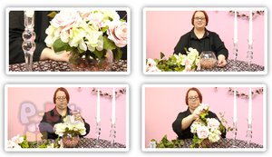 สอนจัดดอกไม้ ประดับเชิงเทียน วันแต่งงาน