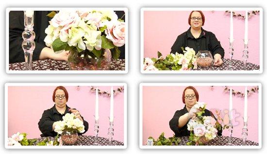รูป 1 สอนจัดดอกไม้ ประดับเชิงเทียน วันแต่งงาน