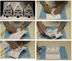 สอนทำบ้านสามหลัง จากกระดาษ A4