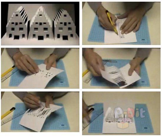 รูป 1 สอนทำบ้านสามหลัง จากกระดาษ A4