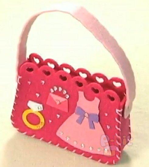 รูป 5 ทำกระเป๋าถือ น่ารักๆ สำหรับตุ๊กตา (เด็ก)