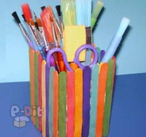 สอนทำที่ใส่ดินสอ จากกล่องนม