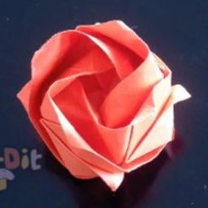 สอนพับดอกกุหลาบ จากกระดาษห่อของขวัญ