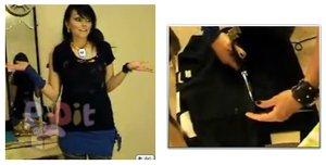 สอนตัดเสื้อยืดเป็นกระโปรง สำหรับใส่ทับด้านนอกกางเกง