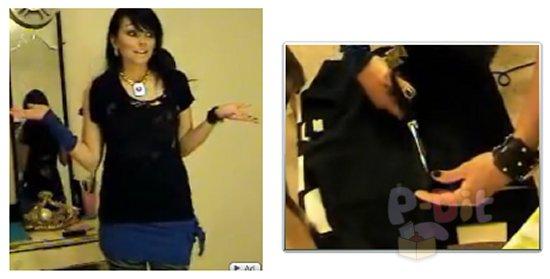 รูป 1 สอนตัดเสื้อยืดเป็นกระโปรง สำหรับใส่ทับด้านนอกกางเกง