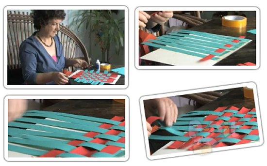 รูป 1 สอนสานกระดาษ จากกระดาษสี