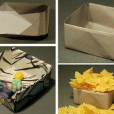 สอนพับกล่องกระดาษสี่เหลี่ยม