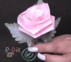 สอนทำดอกกุหลาบ จากริบบิ้น