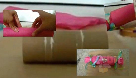 รูป 1 ไอเดียทำของขวัญงานปาร์ตี้ จากแกนกระดาษทิชชู่