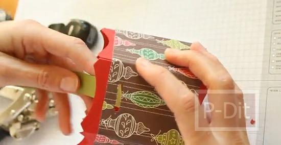 รูป 4 ทำกล่องกระดาษสวยๆ สำหรับใส่ของ ทรงหกเหลี่ยม