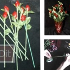 วิธีทำดอกกุหลาบ สำหรับงานแต่งงาน