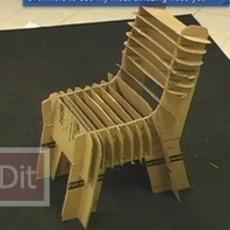 ไอเดีย ทำเก้าอี้จากกล่องกระดาษลัง