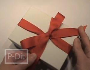 สอนผูกกล่องของขวัญ ด้วยโบว์ 1 เส้น