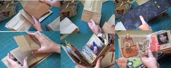 รูป 1 สอนทำอัลบั้มเก็บรูปถ่าย จากถุงกระดาษ