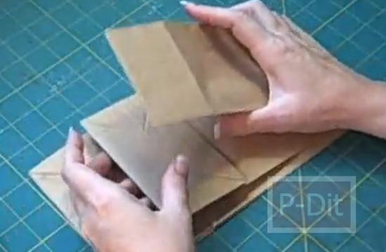 รูป 2 สอนทำอัลบั้มเก็บรูปถ่าย จากถุงกระดาษ
