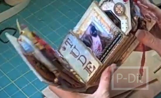 รูป 3 สอนทำอัลบั้มเก็บรูปถ่าย จากถุงกระดาษ