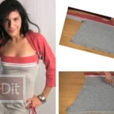คลิปวีดีโอ สอนทำเสื้อกีฬาตัวเก่า เป็นชุดเกาะอก