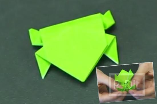 รูป 1 คลิปสอนพับกบกระดาษ กระโดดได้