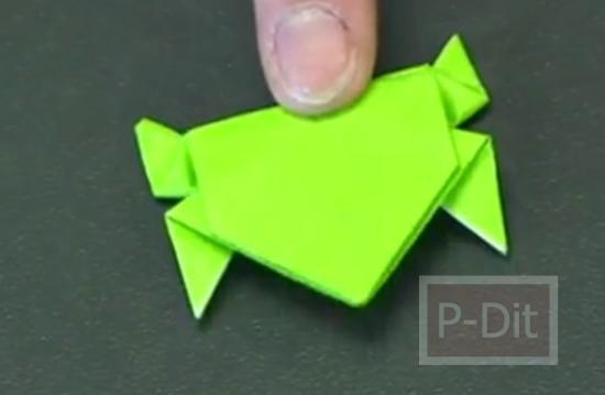 รูป 2 คลิปสอนพับกบกระดาษ กระโดดได้
