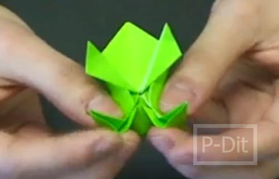 รูป 4 คลิปสอนพับกบกระดาษ กระโดดได้