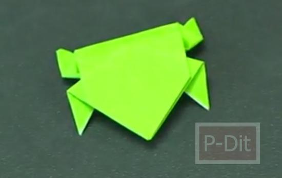 รูป 5 คลิปสอนพับกบกระดาษ กระโดดได้