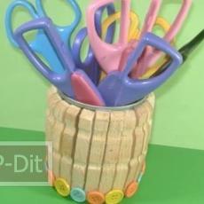 สอนทำที่ใส่ดินสอ จากคลิปหนีบผ้า กระป๋องน้ำอัดลม