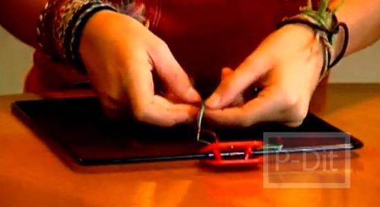 รูป 2 วิธีถักสร้อยข้อมือ ด้วยเส้นเชือก