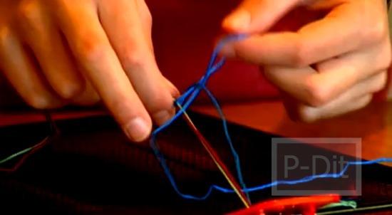 รูป 3 วิธีถักสร้อยข้อมือ ด้วยเส้นเชือก