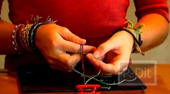 รูป 4 วิธีถักสร้อยข้อมือ ด้วยเส้นเชือก
