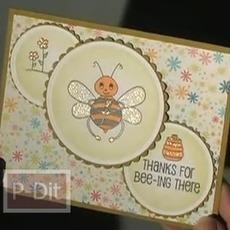 ไอเดีย ทำการ์ด รูปผึ้ง