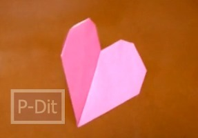 สอนพับกระดาษเป็นรูปหัวใจ