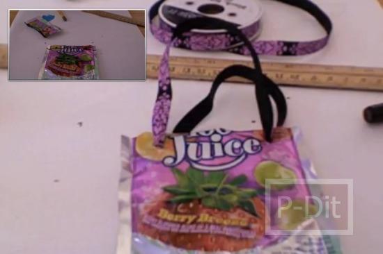 รูป 1 คลิปสอนทำถุงหิ้ว จากถุงขนม