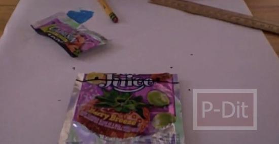 รูป 2 คลิปสอนทำถุงหิ้ว จากถุงขนม