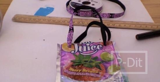 รูป 3 คลิปสอนทำถุงหิ้ว จากถุงขนม