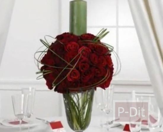 รูป 6 ไอเดียจัดดอกไม้ ประดับโต๊ะงานแต่งงาน