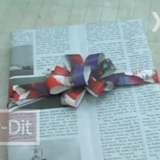 ไอเดีย ห่อของขวัญ ด้วยกระดาษเหลือใช้