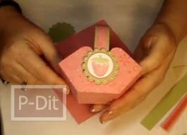 สอนทำที่ใส่ของขวัญน่ารักๆ สีชมพู