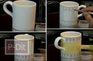 ไอเดียวาดลวดลายแก้วกาแฟ