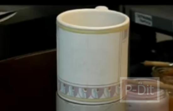 รูป 4 ไอเดียวาดลวดลายแก้วกาแฟ