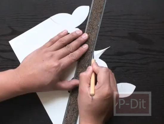 รูป 2 สอนทำการ์ดป็อบอัพ นกฮัมมิ่งเบิร์ด
