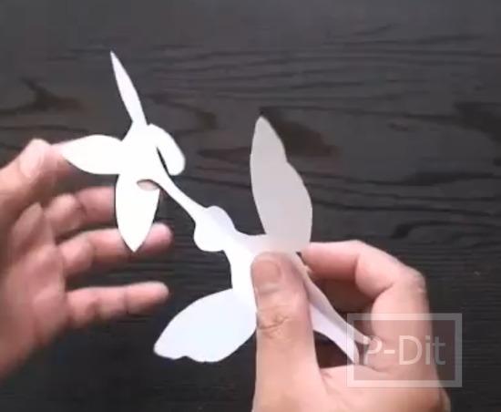 รูป 3 สอนทำการ์ดป็อบอัพ นกฮัมมิ่งเบิร์ด