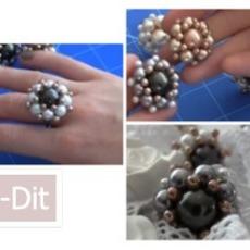ทำแหวนดอกไม้ สำหรับตกแต่งสวยๆ